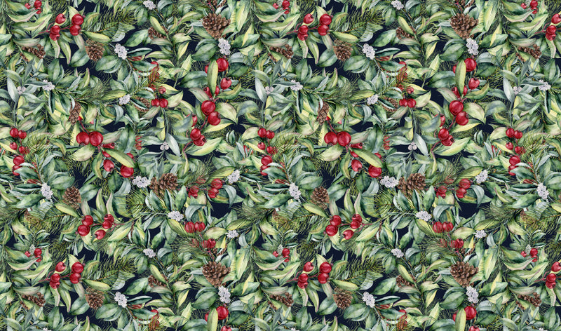 Christmas Foliage Christmas Pattern Heat Transfer Vinyl and Carrier Sheet