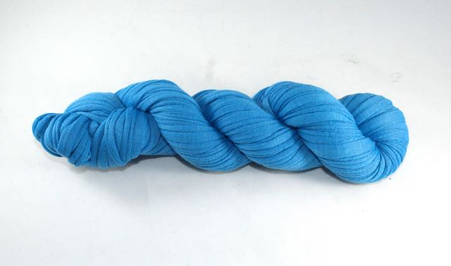 Recycled T-Shirt Yarn- Cerulean Blue