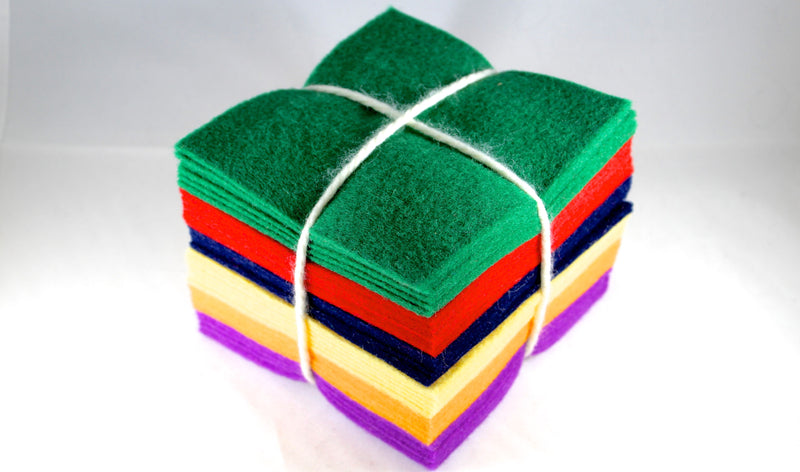 Wool Felt 5x5 Charm Pack- Classic Colors