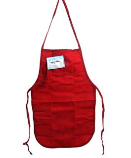 Red Canvas Apron Blank for Heat Transfer Vinyl or Embroidery