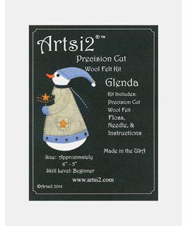 Artsi2 Precision Cut Wool Felt Craft Kit Snowwoman Glenda