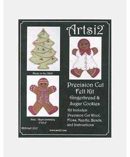 Artsi2 Precision Cut Wool Felt Kit Gingerbread & Sugar Cookies