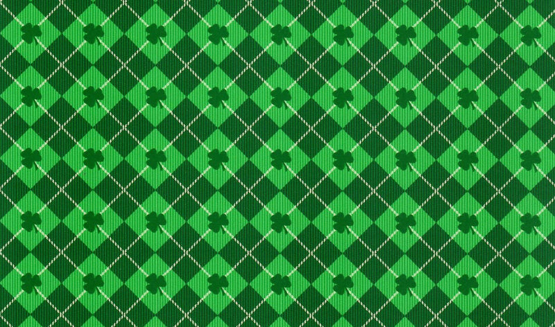 Green Argyle Clover St. Patrick's Day Pattern Heat Transfer Vinyl