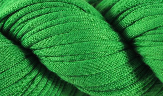 Recycled T-Shirt Yarn- Green