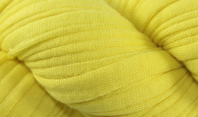 Recycled T-Shirt Yarn- Yellow