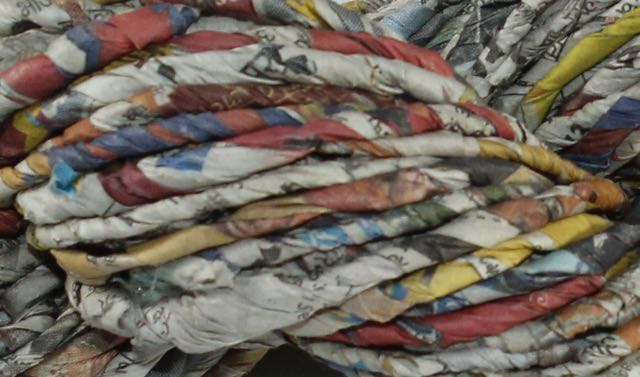 100% Recycled Newspaper Yarn