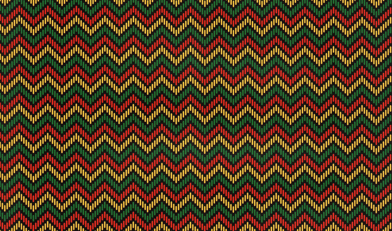 African Dot Chevron Pattern Heat Transfer Vinyl and Carrier Sheet