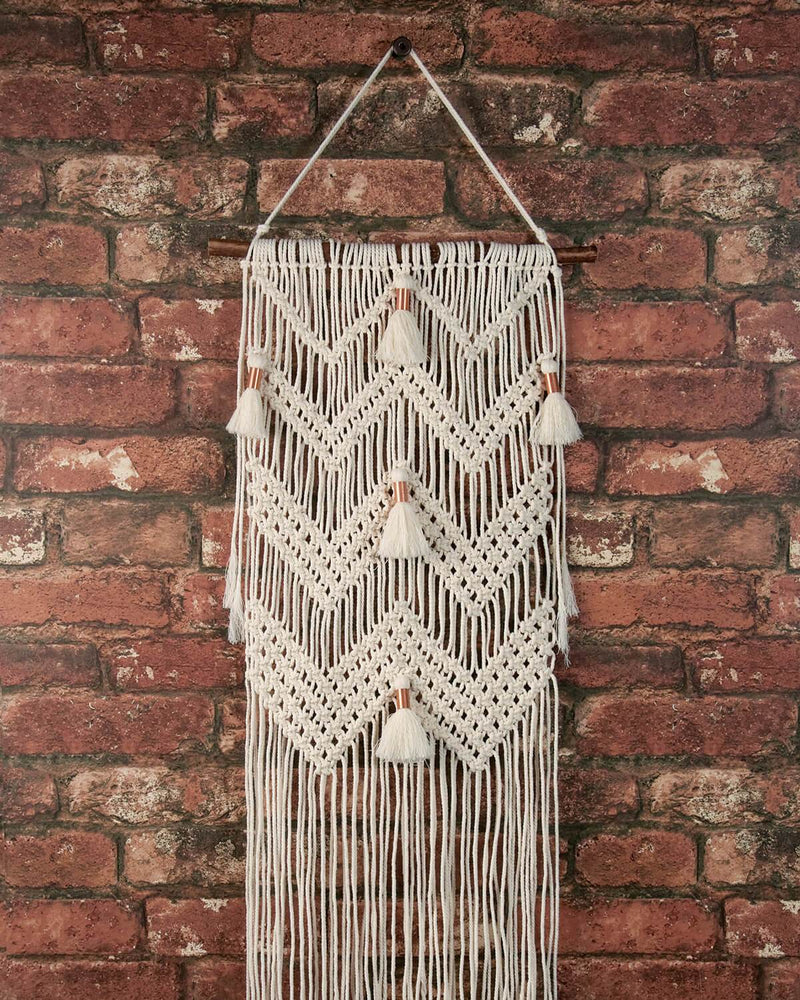 Solid Oak Make-ramé™ - Chevron and Tassels Macrame Kit