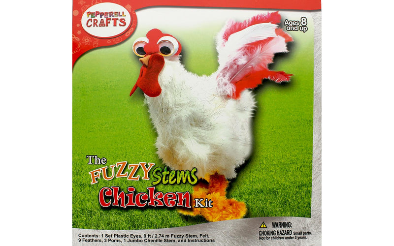 Fuzzy Stem Animal- Chicken