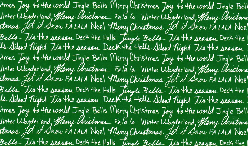 Christmas Greetings Green and White Pattern Heat Transfer Vinyl and Carrier Sheet