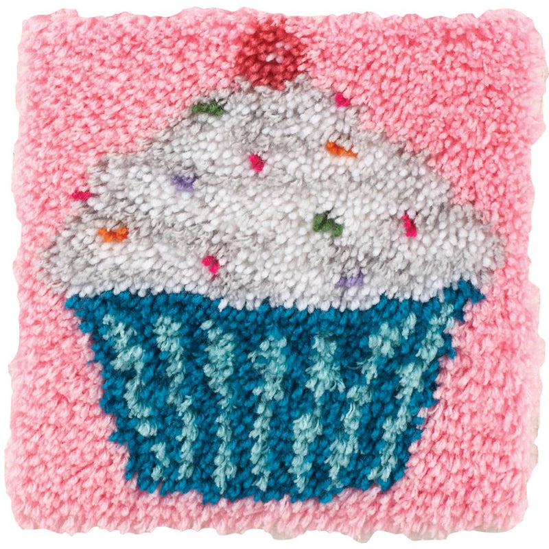 Cupcake Latch Hook Rug Kit by Caron Wonder Art