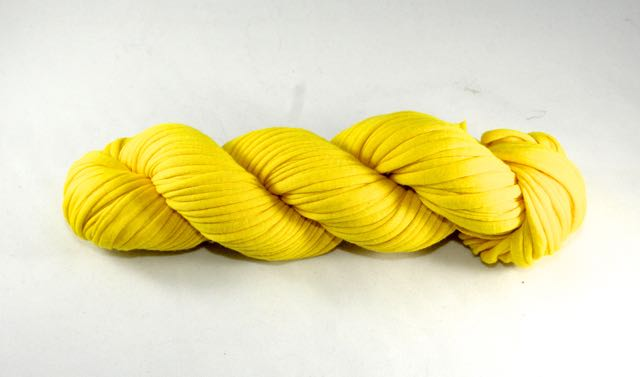 Recycled T-Shirt Yarn- Sunshine Yellow
