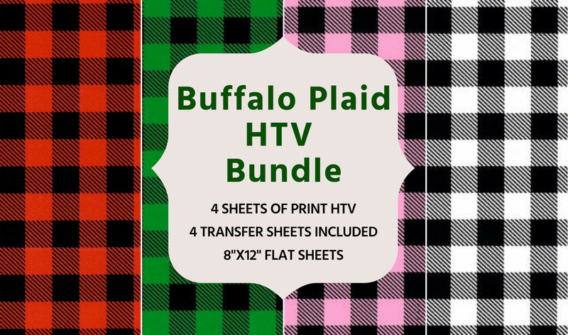 Buffalo Plaid Pattern Heat Transfer Vinyl Bundle
