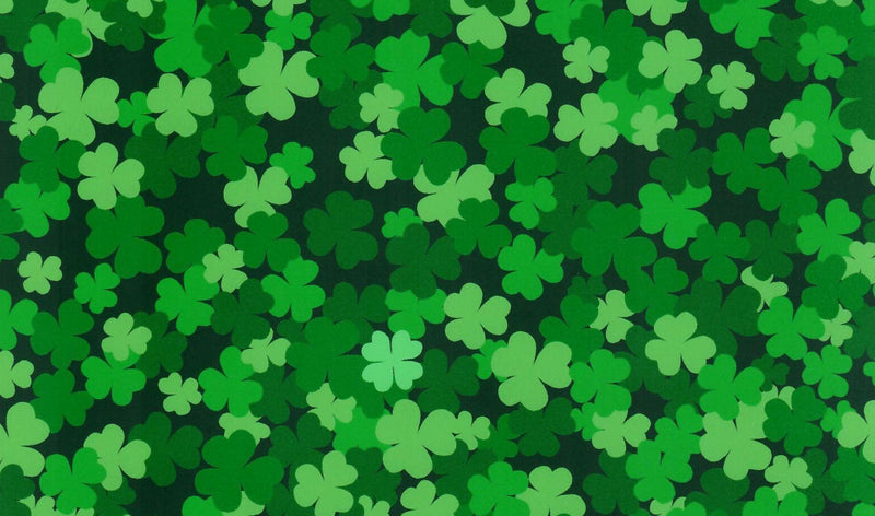 Green Clover Pattern Heat Transfer Vinyl - St. Patrick's Day HTV