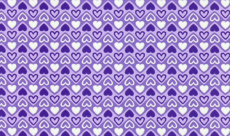 Sew Cute Purple Hearts Pattern Heat Transfer Vinyl