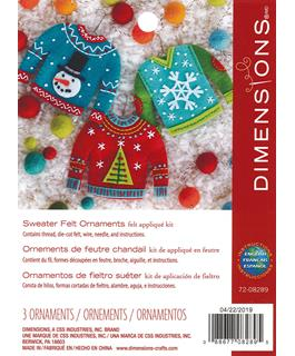 Felt Sweater Ornaments Appliqué Craft Kit