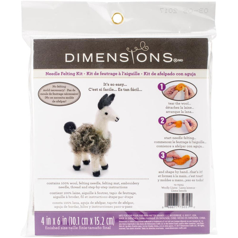 Dimensions Needle Felting Kit- Llama