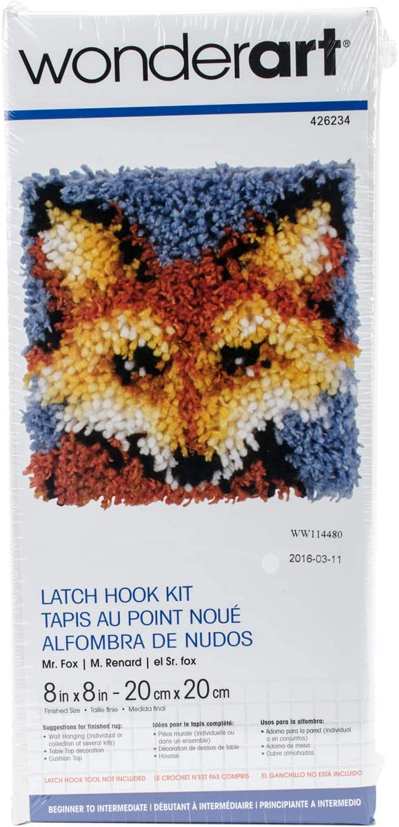 Caron Wonderart Latch Hook Kit - Fox