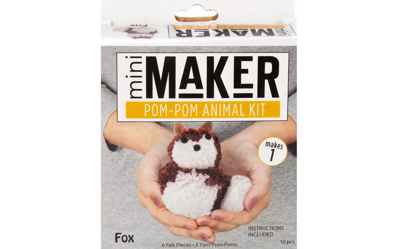 Leisure Arts Mini Maker Pom-Pom Animal Kit - Fox