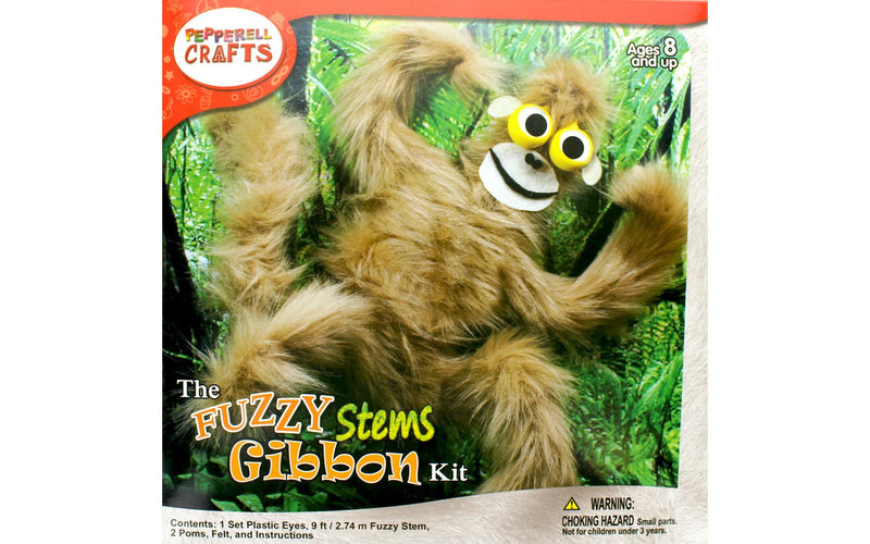 Fuzzy Stem Animal- Gibbon
