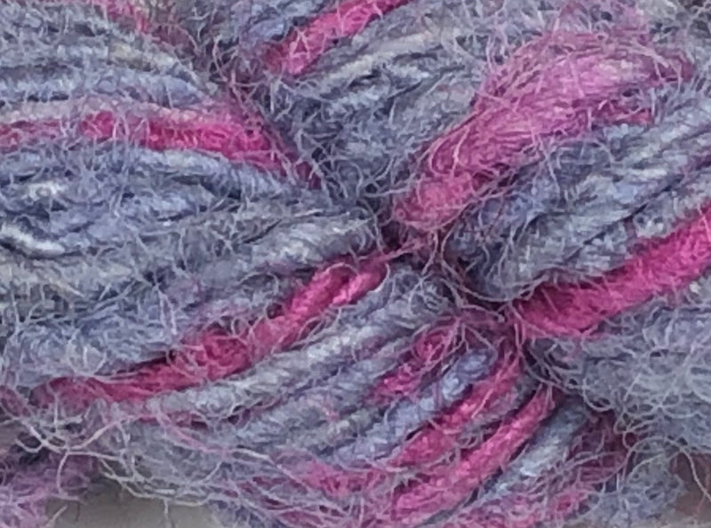 Recycled Sari Silk Yarn - Light Tulip