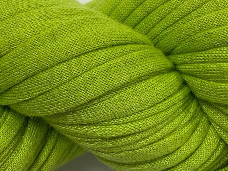 Recycled T-Shirt Yarn- Lime Green