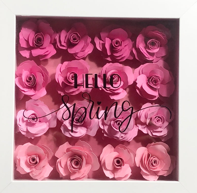Try It Class - Paper Flower Shadow Box