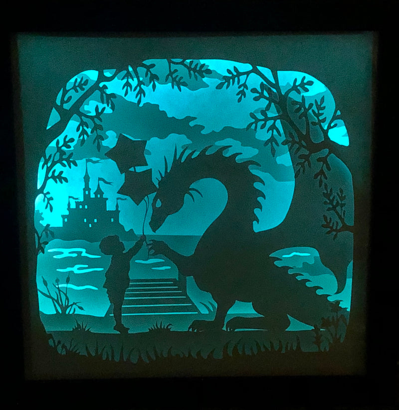 Paper Cut Light Up Shadow Box