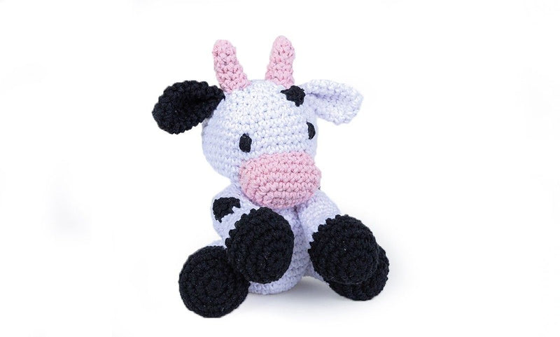 Cow Kirby Hoooked Yarn Kit with Eco Barbante Yarn