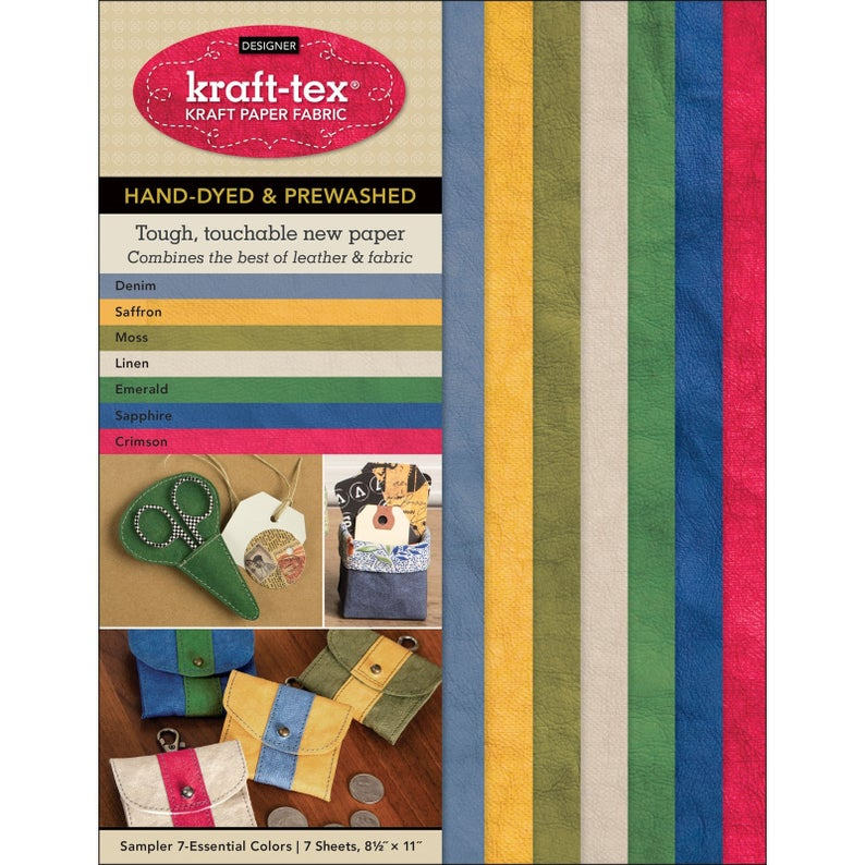 Kraft-Tex Paper Fabric Hand-Dyed & Prewashed Sampler Pack