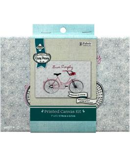 Needle Creations Easy Peazy Embroidery Bicycle- Live Simply