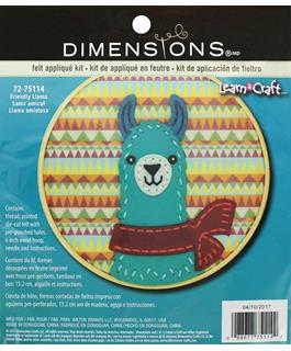 "Dimensions Applique Kit Learn A Craft 6"" Felt Friend Llama"