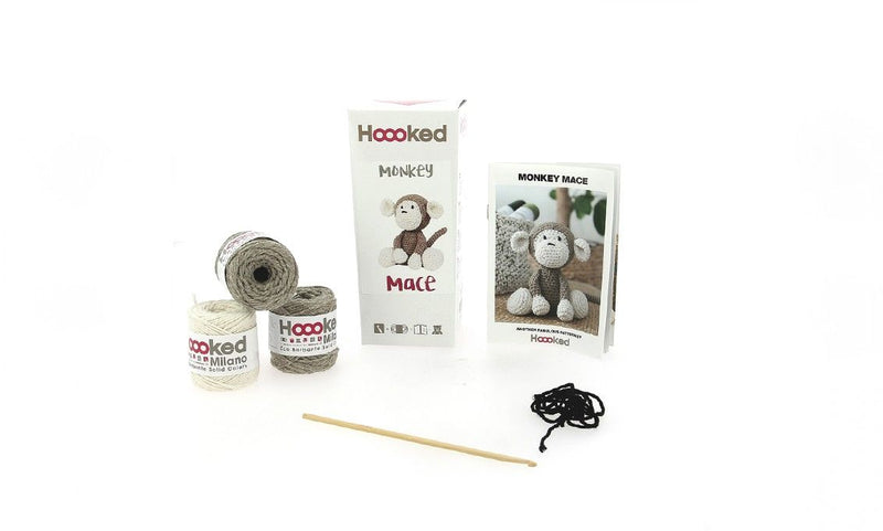 Monkey Mace Hoooked Yarn Kit with Eco Barbante Yarn