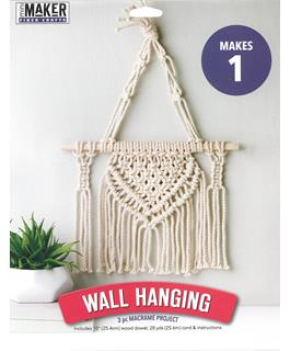 Leisure Arts Mini Maker Kit Macrame Wall Hanging