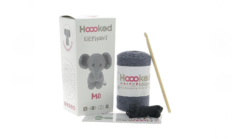 Hoooked Elephant Mo Yarn Kit with Eco Barbante Yarn