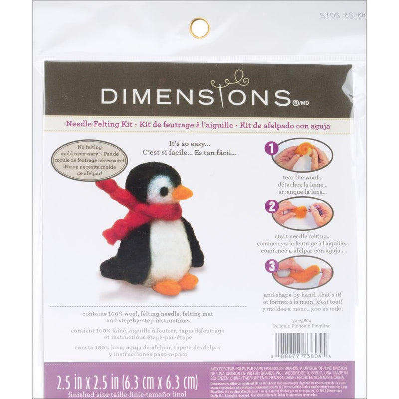 Needle Felting Kit- Penguin