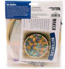 Leisure Arts Kit Mini Maker Embroidery Organza Butterflies
