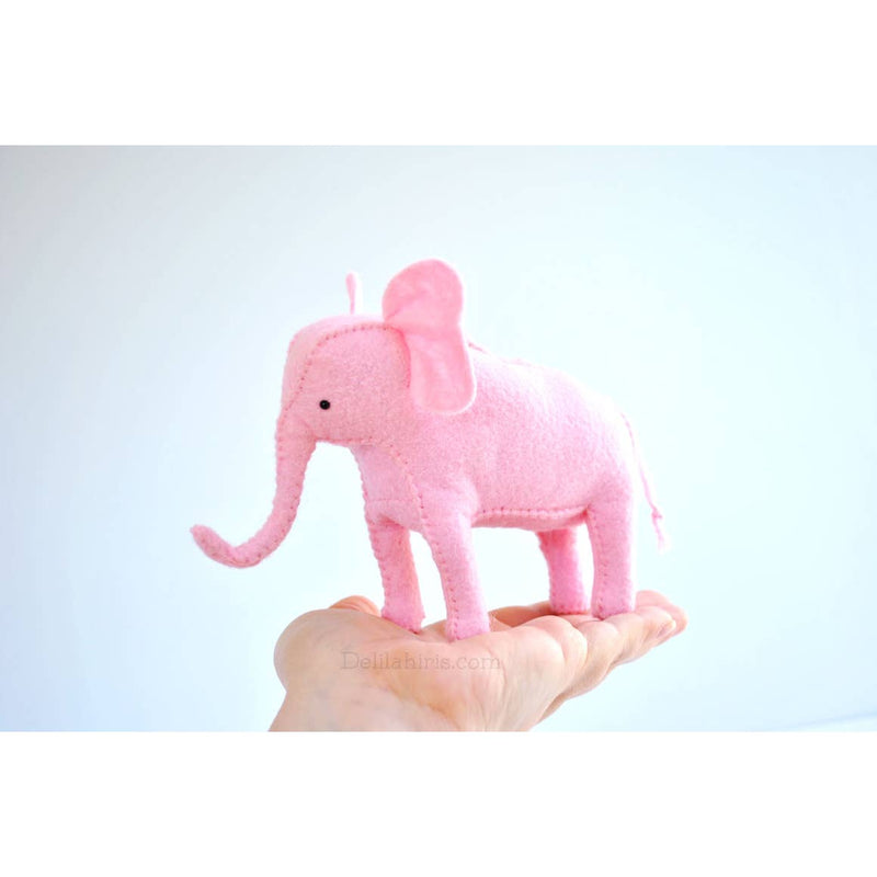 Felt Pink Elephant Hand Sewing Kit