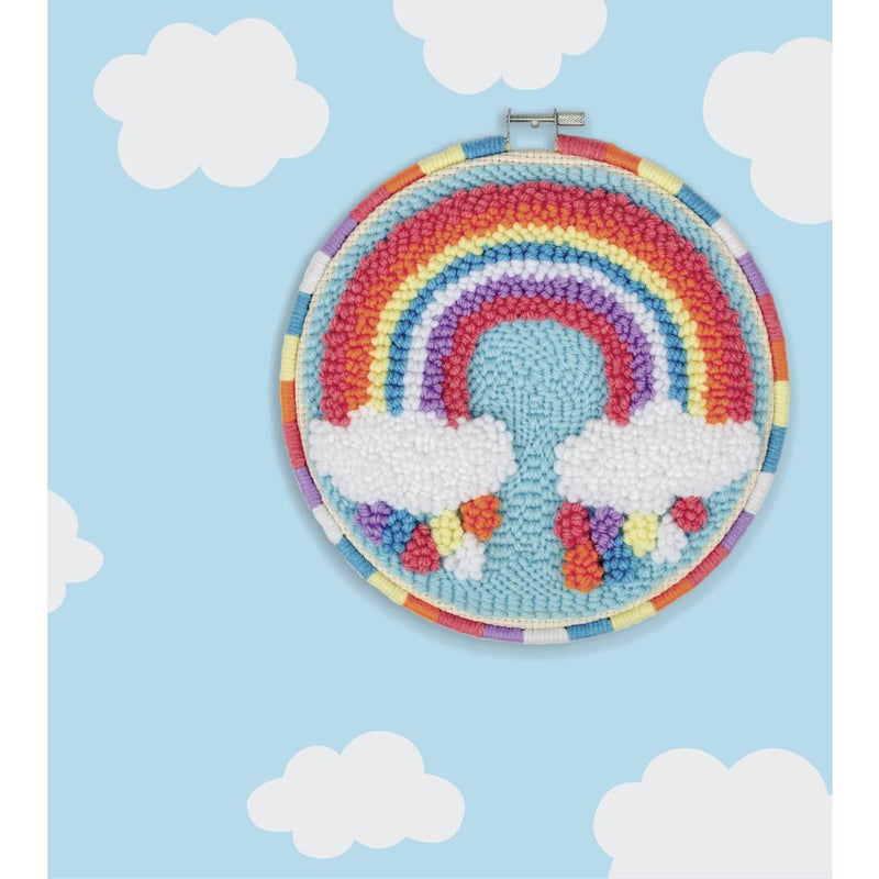 Rainbow Punch Needle Kit by Fabric Editions