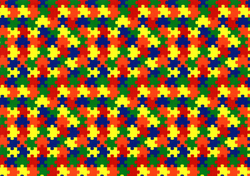Puzzle Pattern - Autism Awareness - Heat Transfer Vinyl and Carrier Sheet