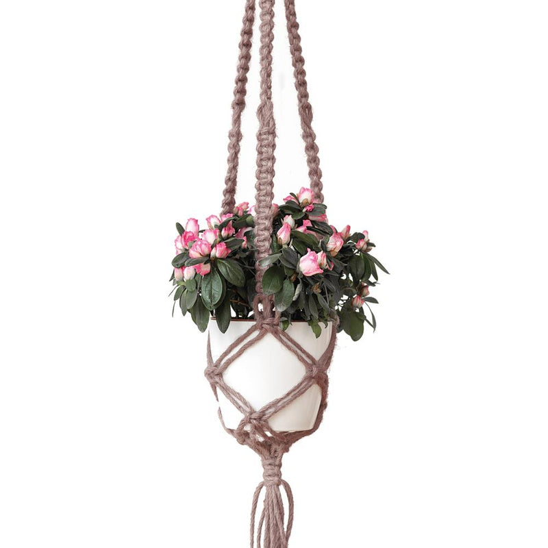 Hoooked Macrame Hanging Basket Kit with Natural Jute Yarn - Tea Rose