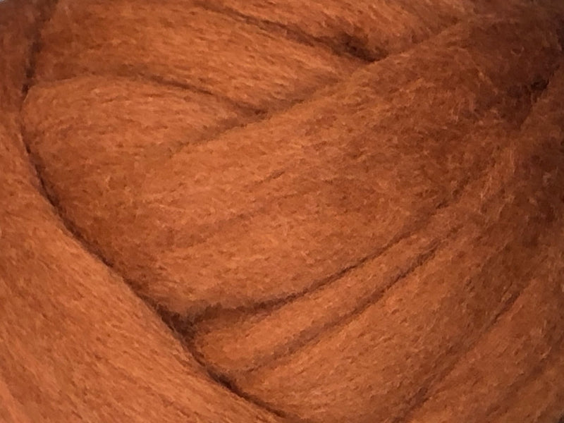 Wool Roving - 1oz - Rust