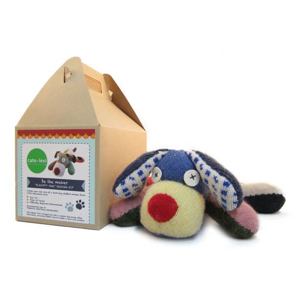 Scrappy Dog Stuffed Animal Craft Kit by Cate and Levi