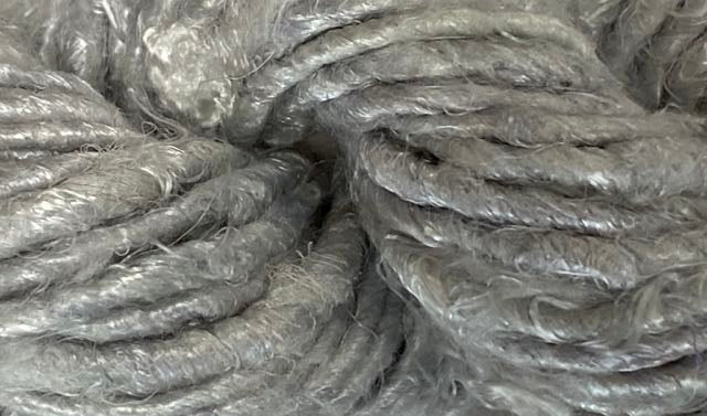 Banana Silk Yarn- Silver