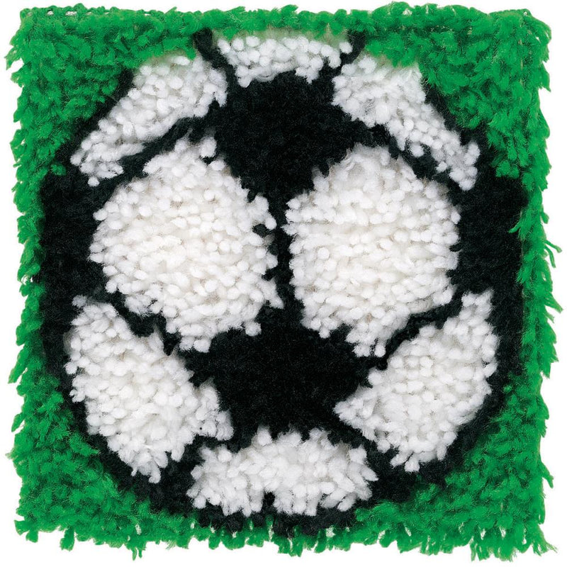 Soccer Ball Latch Hook Rug Kit by Caron Wonder Art