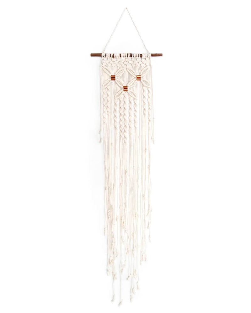 Solid Oak Make-ramé™ - Three Flowers Macrame Kit