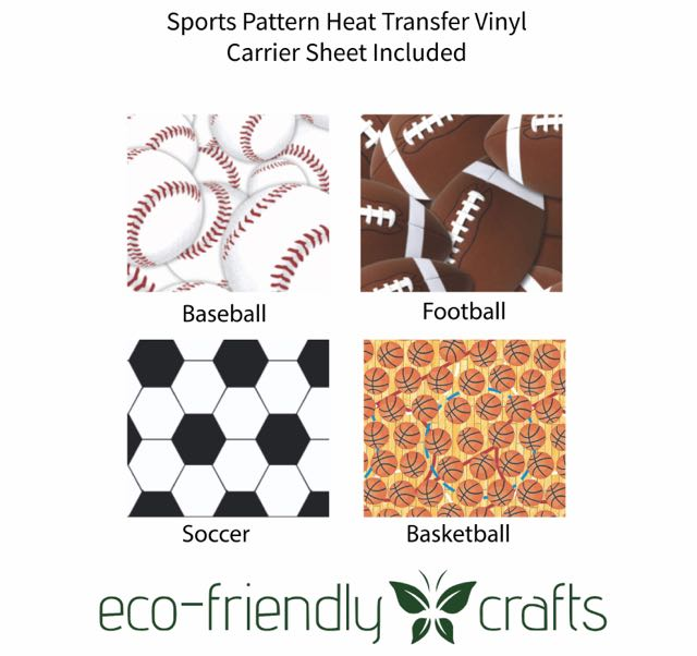 Sports Pattern Heat Transfer Vinyl and Carrier Sheet