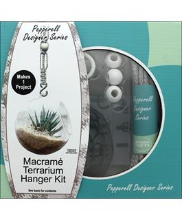 Macrame Kit - Terrarium Hanger in Gray