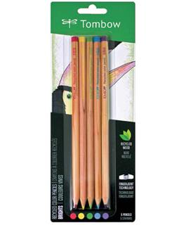 Recycled Tombow Color Pencil Set Bright Colors - Five Piece Fine Art Set