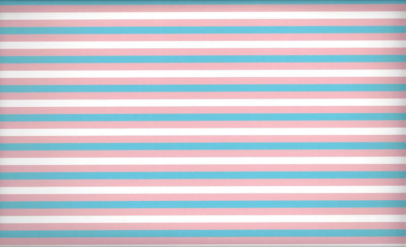 Trans Pride Flag Pattern Heat Transfer Vinyl and Carrier Sheet